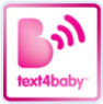 Text 4 baby Pink and white logo