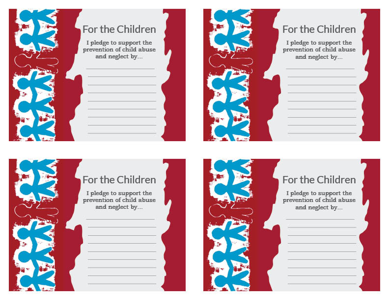 Children's Memorial Flag Day Pledge Cards (JPG)