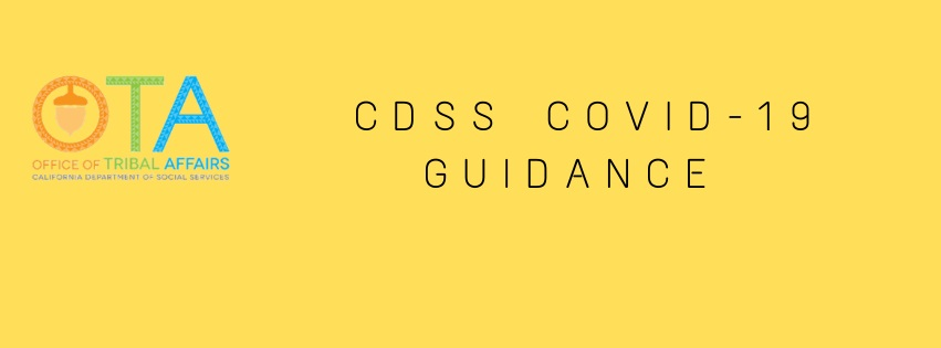 Tribal Affairs CDSS COVID-19 Guidance Text Banner