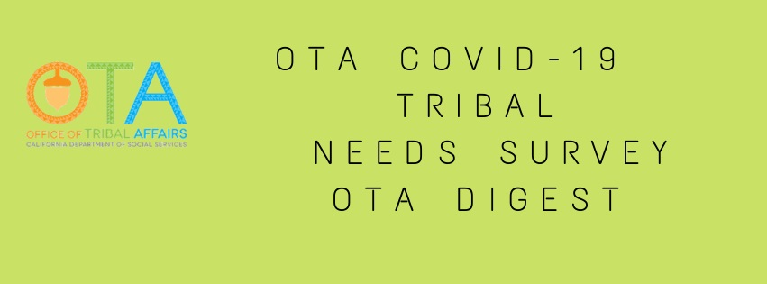 Tribal Affairs COVID-19 Tribal Needs Survey Text Banner